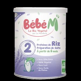 Formula 2 Lapte praf vegetal pentru bebelusi - de la 6 luni 800g eco-bio Bébé MANDORLE