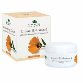 Crema hidratanta cu extract de galbenele vitamina A, E si pantenol 50 ml - Cosmetic plant