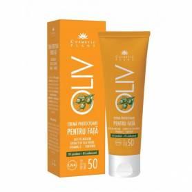 Crema protectoare fata oliv SPF 50 cu ulei de masline 50ml - Cosmetic plant
