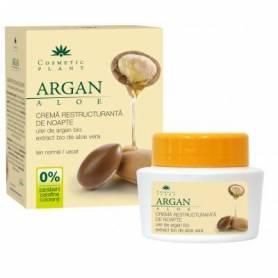 Crema restructuranta de noapte cu ulei de argan 50ml - Cosmetic plant