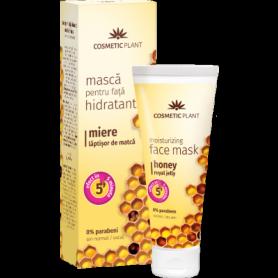 Masca hidratanta pentru fata cu miere si laptisor de matca 50ml - Cosmetic plant