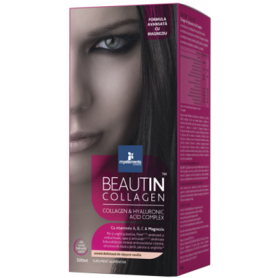 BEAUTIN COLLAGEN ADVANCED CU MAGNEZIU 500ml - capsuni si vanilie - My Elements - ISOPLUS