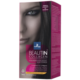 BEAUTIN COLLAGEN ADVANCED CU MAGNEZIU 500ml - aroma de mango si pepene - My Elements - ISOPLUS