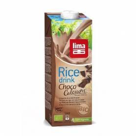 Lapte de orez cu ciocolata , soia si calciu bio 1l - Lima