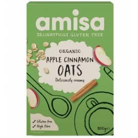 Porridge din ovaz cu mar si scortisoara fara gluten eco-bio 300g - Amisa
