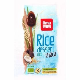 Desert din orez cu cocos si ciocolata bio 2x100g - Lima
