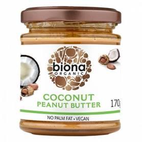 Unt de arahide si cocos bio 170g - Biona