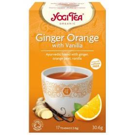 Ceai de ghimbir portocala si vanilie 17pl ECO-BIO - Yogi Tea