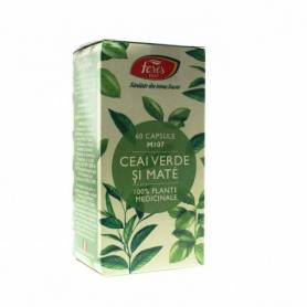 Ceai verde si mate 60cps - Fares