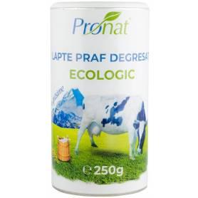 Lapte praf eco-bio degresat, 1% grasime, 250g, Pronat