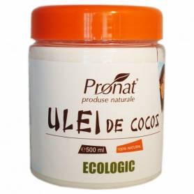 Ulei de cocos NEHIDROGENAT 500 ml - ECO-BIO - PRONAT