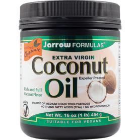 Coconut oil - ulei de cocos extra virgin - 454g - ECO-BIO - Jarrow Formulas