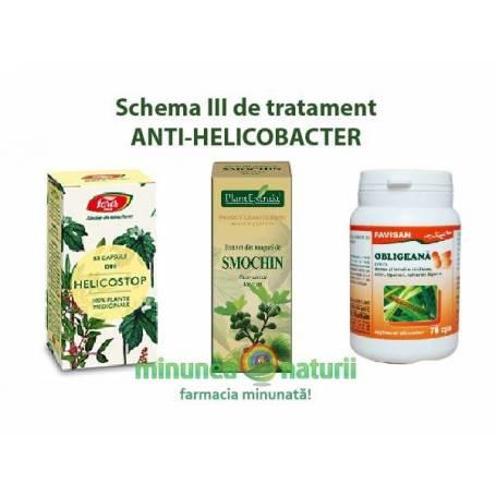 Schema III de tratament ANTI-HELICOBACTER