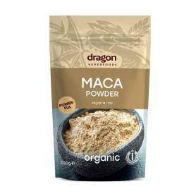 Maca pulbere raw eco-bio 200g - Dragon Superfoods
