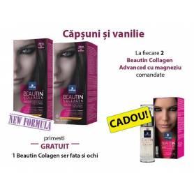 PACHET PROMO Beautin Colagen Magneziu Capsuni-Vanilie + Beautin Collagen Ser Cadou