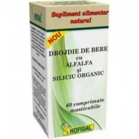 Drojdie Bere cu Alfalfa si Siliciu Organic 60cps - Hofigal