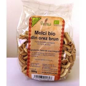 Melci din orez brun ECO-BIO fara gluten 200g - Petras