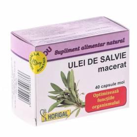 Ulei Salvie Macerat 500mg 40cps - Hofigal