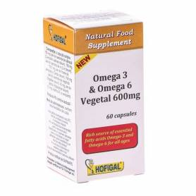 Omega 3 6 Vegetal 600mg 60cps - Hofigal