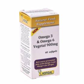 Omega 3 6 Vegetal 900mg 40cps - Hofigal