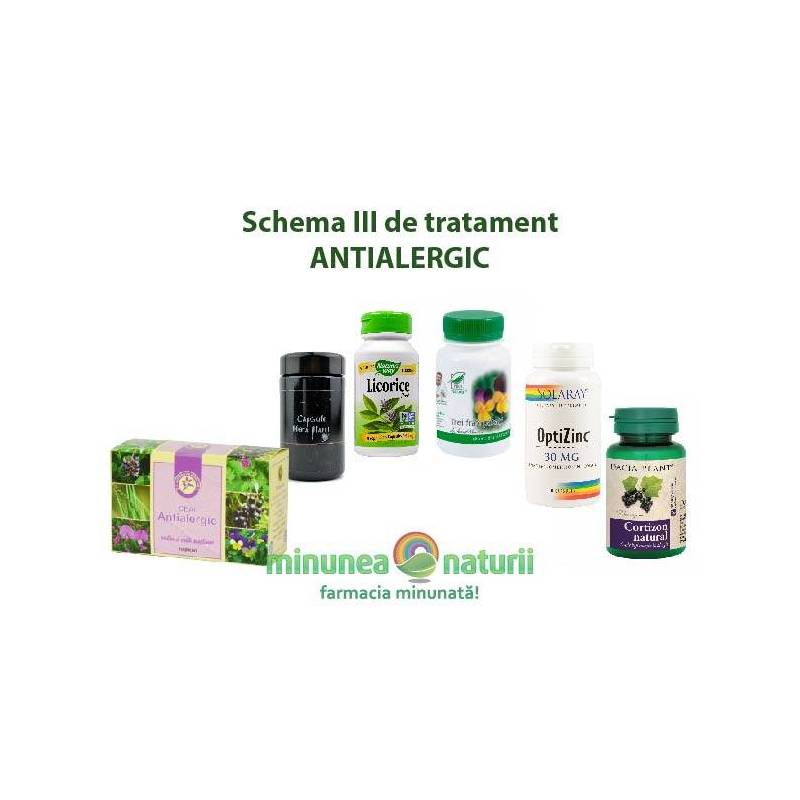 Schema de tratament antialergic III