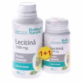 Lecitina 1200mg 90cps + 30cps gratis - Rotta Natura