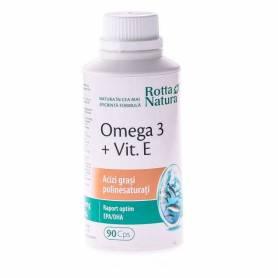 Omega 3 Vitamina+E 1000mg 90cps - Rotta Natura