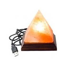 LAMPA SARE DE HIMALAYA PIRAMIDA USB - MONTE CRYSTAL