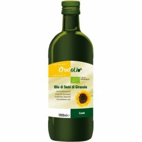 Ulei din seminte de floarea soarelui presat la rece 1000ml ECO-BIO - CRUDOLIO