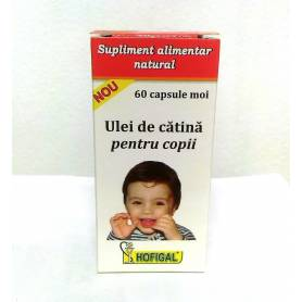 Ulei de catina pentru copii 300mg 60cps moi - HOFIGAL