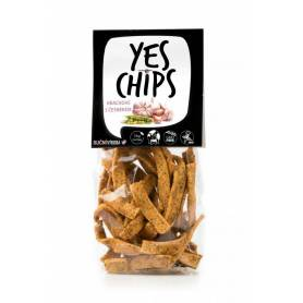 Chips vegan cu mazare si usturoi 80g - Yes Chips