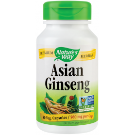 Asian Ginseng 560mg 50tb - Natures Way -  Secom