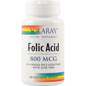Folic Acid 800mcg 100tb - Solaray - Secom