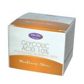 Glycolic Acid 10% Cream 48g - Life Flo - Secom
