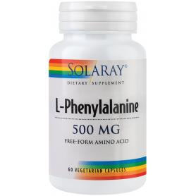 L-Phenylalanine 500mg 60tb - Solaray -Secom