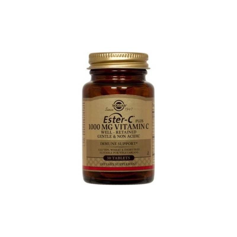 Ester-C - Vitamina C esterificata non-acida - 1000mg 30tabs - SOLGAR