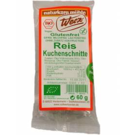 Prajiturica fara gluten din orez integral - 60g - eco-bio - Werz