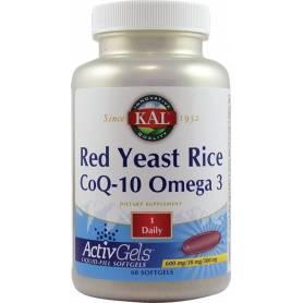 Red Yeast Rice CoQ-10 Omega-3 60tb - KAL - Secom