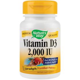 Vitamin D3 2000UI 120tb - Nature's Way - Secom