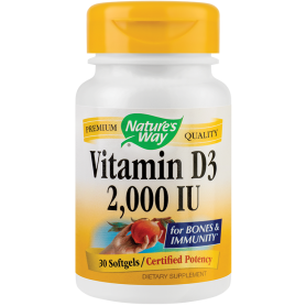 Vitamin D3 2000UI 30tb - Nature's Way - Secom