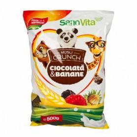 Musli crunch banane si ciocolata 500g - SanoVita