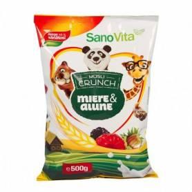 Musli crunch miere si alune 500g - SanoVita
