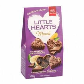 Little hearts cu banane si ciocolata 100g - SanoVita