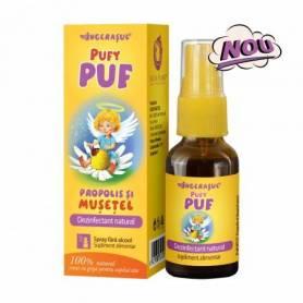 PufyPUF Propolis si Musetel fara alcool spray 20ml - Dacia Plant