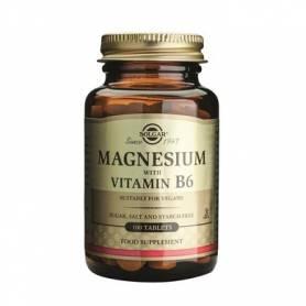 Magnesium + B6 tabs - magneziu cu vit B6 - 100 tabs - SOLGAR