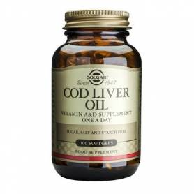 Cod Liver Oil - ulei din ficat de cod - 100cps SOLGAR