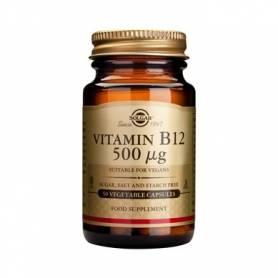 Vitamina B-12 - Ciancobalamina - 500ug - 50 veg caps - SOLGAR