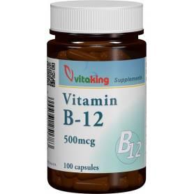 Vitamina B-12 - Ciancobalamina - 500ug - 100caps - VITAKING
