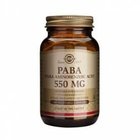 PABA - Acid Para Aminobenzoic - 550mg - 100veg cps - SOLGAR