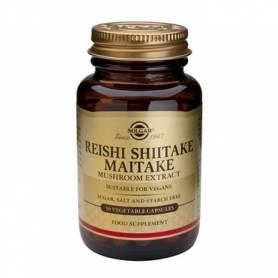 REISHI SHIITAKE MAITAKE MUSHROOM EXTRACT - 50veg cps - SOLGAR
